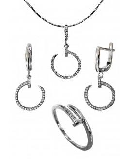 Сребърен комплект - Пиронче ERN011