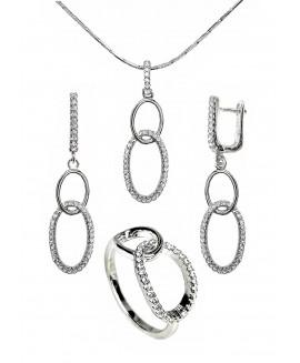 Сребърен комплект - Елегантен ERN012