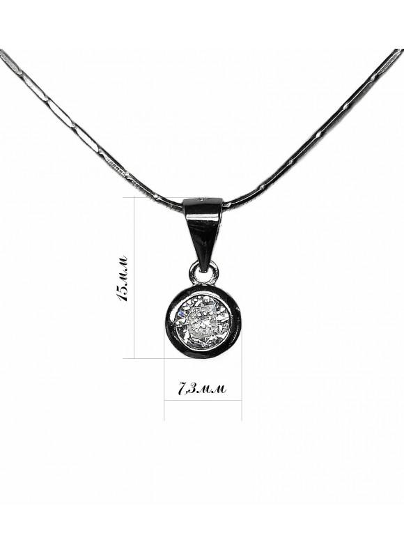 Сребърна висулка - Камъче SP029
