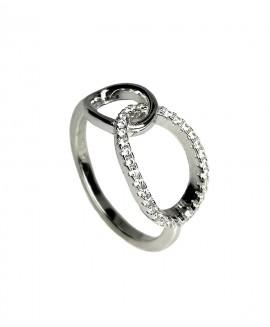 Сребърен пръстен - Елегантен SR012
