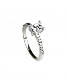 Сребърен пръстен - Годежен SR007