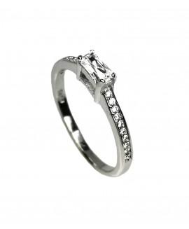 Сребърен пръстен - Годежен SR008