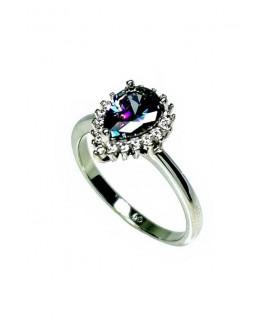 Сребърен пръстен - Мистик Топаз SR001