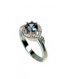 Сребърен пръстен - Мистик Топаз SR002