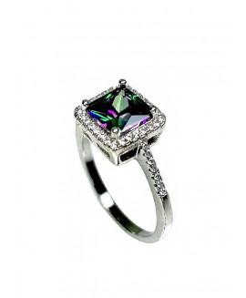 Сребърен пръстен - Мистик Топаз SR003