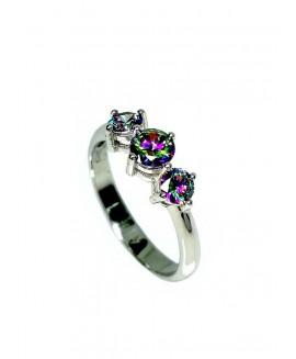 Сребърен пръстен - Мистик Топаз SR004