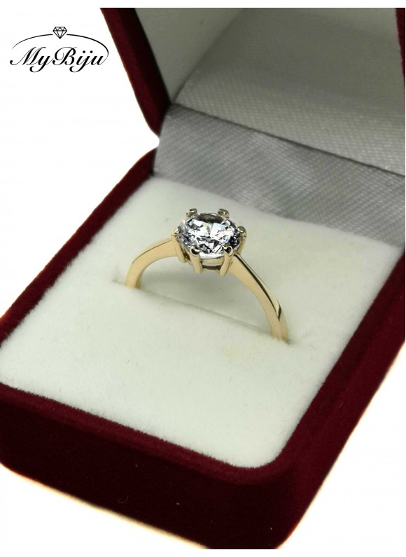 Златен годежен пръстен ER001
