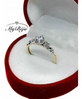 Златен годежен пръстен ER003