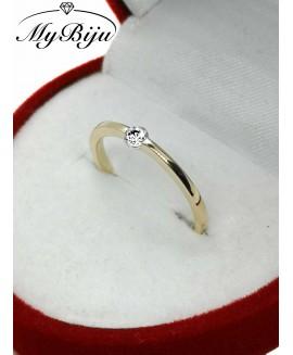 Златен годежен пръстен ER007
