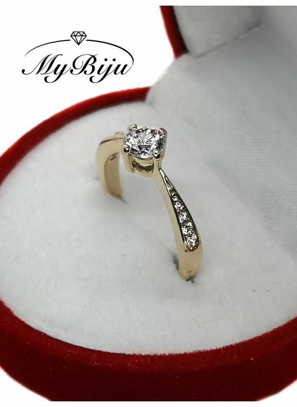 Златен годежен пръстен ER009