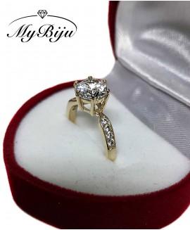 Златен годежен пръстен ER010