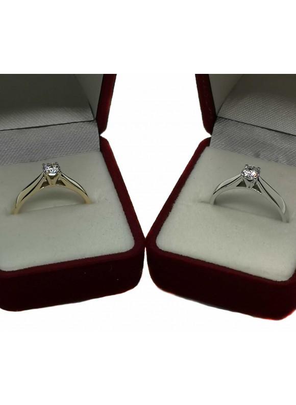 Златен годежен пръстен ER002