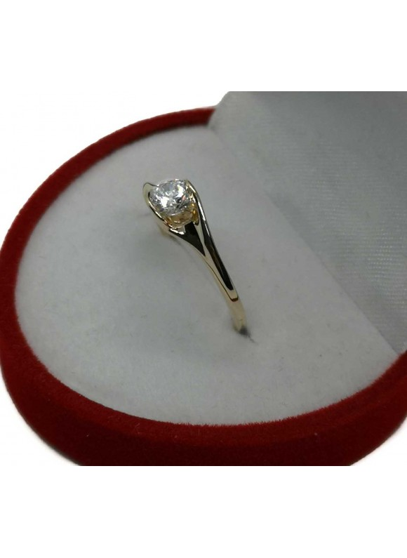 Златен годежен пръстен ER008