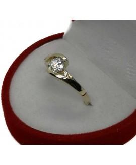 Златен годежен пръстен ER005